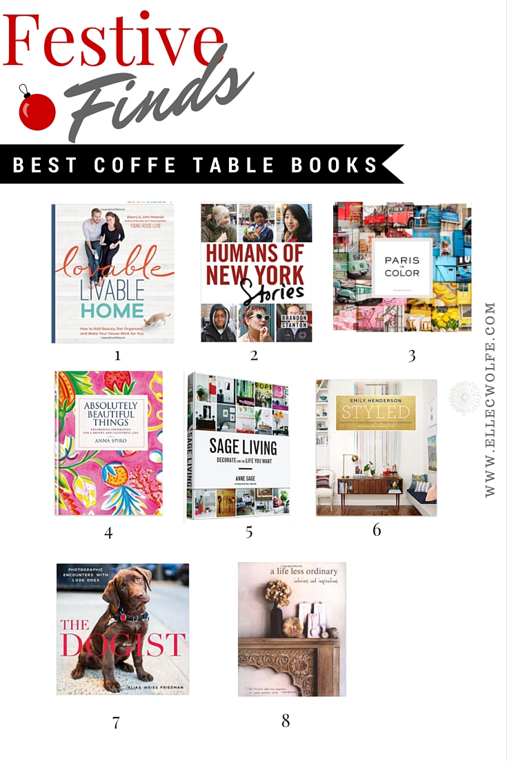 Best Coffee Table Books Elle C Wolfe Interiors